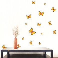 Sticker Papillons jaunes