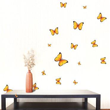 Sticker Papillons jaunes - stickers papillon & stickers muraux - fanastick.com