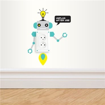 Sticker prises robots enfants - stickers interrupteur & stickers muraux - fanastick.com