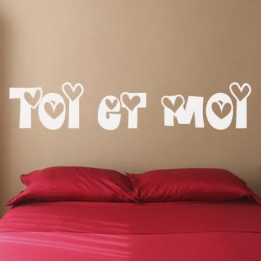 Sticker Toi et moi - stickers tête de lit & stickers muraux - fanastick.com
