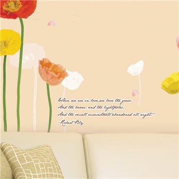 Sticker tulipes multicolores - stickers fleurs & stickers muraux - fanastick.com