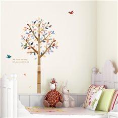 Sticker arbre et oiseaux