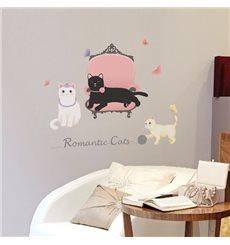 Sticker chats romantiques