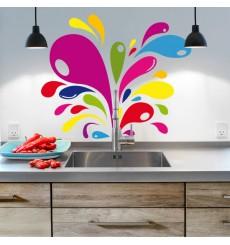 Sticker Eclaboussures colorées