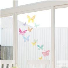Sticker papillons artistiques