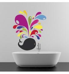 Sticker Baleine multicolore
