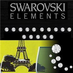Sticker 15 Cristaux adhésifs 3mm SWAROVSKI® ELEMENTS - couleur cristal