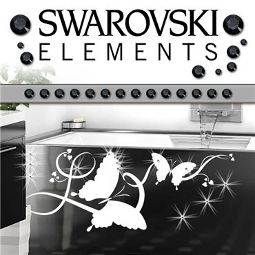 Sticker 15 Cristaux adhésifs 3mm SWAROVSKI® ELEMENTS - noir - stickers swarovski® elements & stickers muraux - fanastick.com