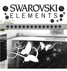 Sticker 15 Cristaux adhésifs 3mm SWAROVSKI® ELEMENTS - noir