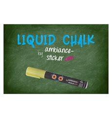 Sticker Craie liquide pour ardoise, tableau blanc, vitre - 3mm Jaune