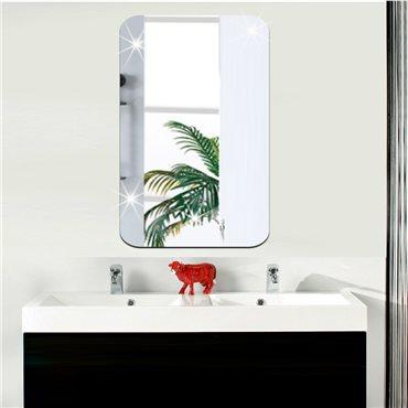 Sticker miroir rectangle bords arrondis 42x27 cm - stickers miroir & stickers muraux - fanastick.com