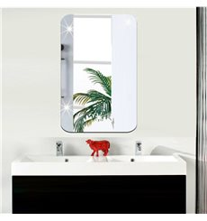 Sticker miroir rectangle bords arrondis 42x27 cm