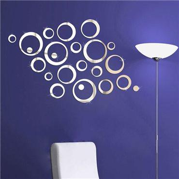 Sticker miroir Anneaux designs - stickers miroir & stickers muraux - fanastick.com
