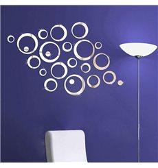 Sticker miroir Anneaux designs