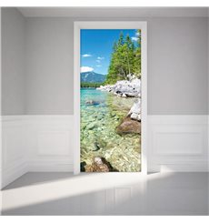 Sticker porte 204 x 83 cm - Lac de Cristal