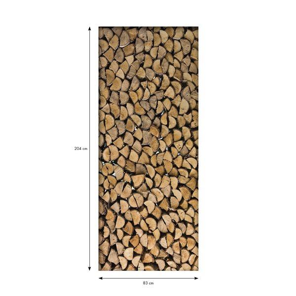 Sticker porte 204 x 83 cm b ches en bois stickers for Porte 83 204