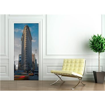 Sticker porte 204 x 83 cm - New York Flatiron building - stickers porte & stickers deco - fanastick.com