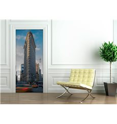 Sticker porte 204 x 83 cm - New York Flatiron building