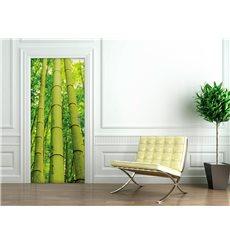 Sticker porte 204 x 83 cm - Bambou