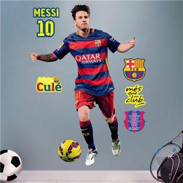 Sticker FC Barcelone - Messi 120cm® - stickers foot & stickers muraux - fanastick.com