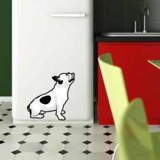 Sticker Bouledogue assis