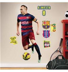 Sticker FC Barcelone - Iniesta 120cm®