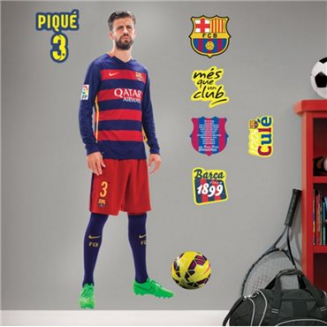 Sticker FC Barcelone - Gerard Piqué 120cm® - stickers foot & stickers muraux - fanastick.com