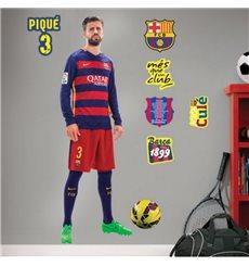 Sticker FC Barcelone - Gerard Piqué 120cm®