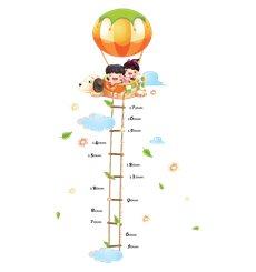 Sticker toise enfants et montgolfière