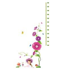 Sticker toise fleurs violettes et champignons