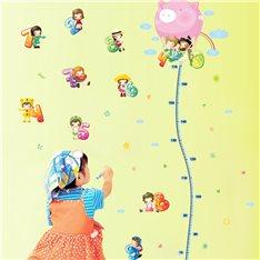 Sticker toise Enfants avec Montgolfière