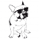 Sticker Bouledogue Ray-Ban - stickers animaux & stickers muraux - fanastick.com