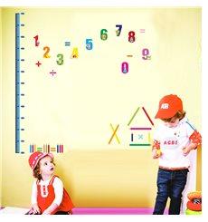 Sticker toise chiffres et crayons