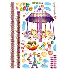 Sticker toise manège et ballons