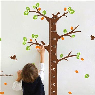 Sticker toise arbre des rêves - stickers toise & stickers enfant - fanastick.com
