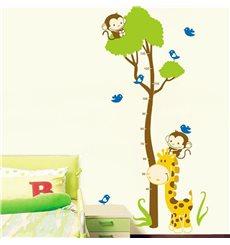 Sticker toise arbre et singe