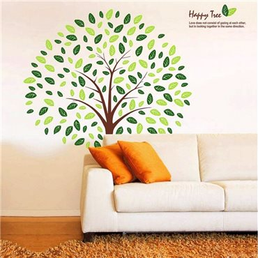 Sticker Happy Tree - stickers arbre & stickers muraux - fanastick.com