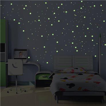 Sticker voie Lactée Phosphorescente - 240 étoiles et planètes - stickers phosphorescent & stickers muraux - fanastick.com