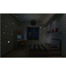 Sticker Univers - 150 étoiles et planètes phosphorescentes