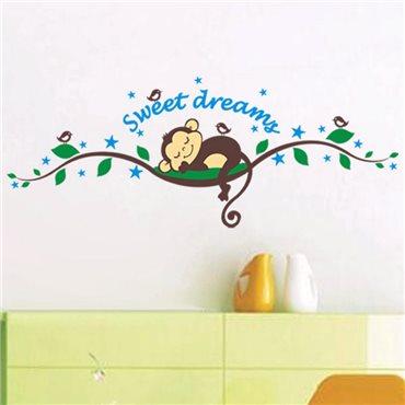 Sticker singe Dormeur - stickers animaux enfant & stickers enfant - fanastick.com