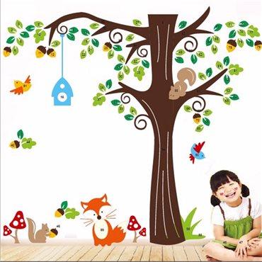 Sticker Arbre et Animaux - stickers chambre enfant & stickers enfant - fanastick.com