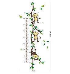 Sticker toise arbre singe et oiseaux