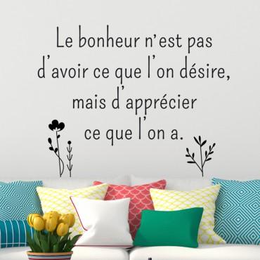 Sticker Le bonheur n'est pas... - stickers citations & stickers muraux - fanastick.com