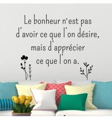Sticker Le bonheur n'est pas...