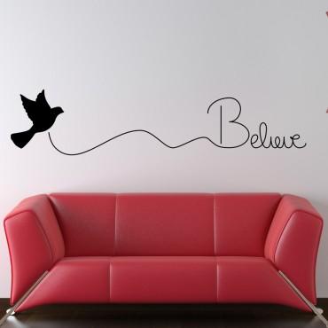 Sticker Believe - stickers citations & stickers muraux - fanastick.com