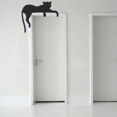 Sticker Chat sur la porte