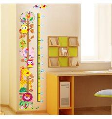 Sticker toise hiboux et girafe