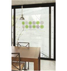 Sticker cercles modernes verts et gris