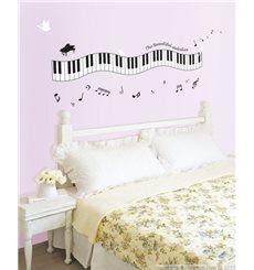 Sticker Mélodie au piano