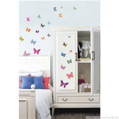 Sticker papillons multicolores 2